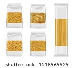 pasta and italian macaroni food ... | Shutterstock .eps vector #1518969929