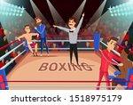 Professional Boxing Match Flat...