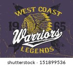 athletic style warriors apparel ... | Shutterstock .eps vector #151899536