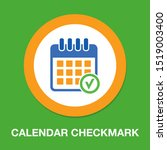 calendar checkmark icon  vector ... | Shutterstock .eps vector #1519003400