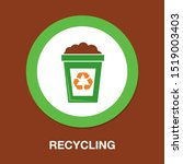 recycle icon  recycling garbage ... | Shutterstock .eps vector #1519003403