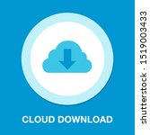 download cloud icon  vector... | Shutterstock .eps vector #1519003433