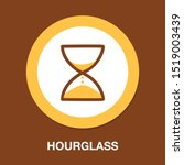 hourglass icon  sand time clock | Shutterstock .eps vector #1519003439