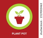 plant pot icon  vector flower... | Shutterstock .eps vector #1519003463