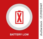 battery low icon  energy symbol ... | Shutterstock .eps vector #1519003469