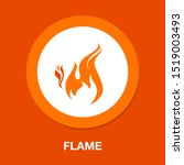 Vector Fire Flame Icon  Hot...