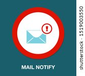 mail notify icon  mail icon ...   Shutterstock .eps vector #1519003550