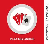 playing card illustration ... | Shutterstock .eps vector #1519003553
