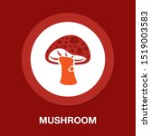mushroom icon  vector vegetable ... | Shutterstock .eps vector #1519003583