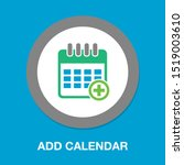 calendar with add sign icon ... | Shutterstock .eps vector #1519003610