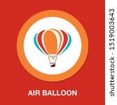 vector air balloon icon ...