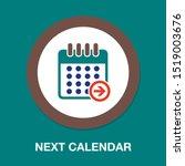 calendar next day icon  vector... | Shutterstock .eps vector #1519003676