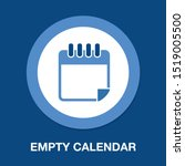 vector empty calendar icon ... | Shutterstock .eps vector #1519005500