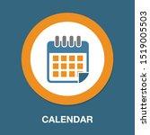 calendar day icon  vector... | Shutterstock .eps vector #1519005503