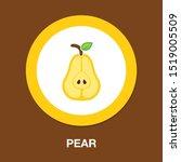 pear icon  fresh fruit... | Shutterstock .eps vector #1519005509