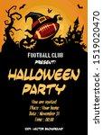halloween pattern. football... | Shutterstock .eps vector #1519020470
