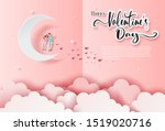 happy valentines's day ... | Shutterstock .eps vector #1519020716