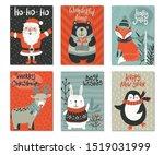 Vector Set Of Six Christmas...