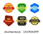 six colorful premium quality... | Shutterstock .eps vector #151904399