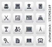 education icons on gray... | Shutterstock .eps vector #151906169