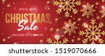 christmas sale banner with... | Shutterstock .eps vector #1519070666