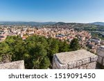 panorama of Campobasso city in Molise view from Monforte castle