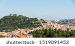 panorama of Campobasso city in Molise with Monforte castle