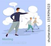 flat team successful leader.... | Shutterstock . vector #1519096523