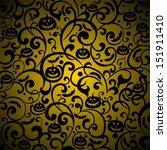 halloween background. vector... | Shutterstock .eps vector #151911410