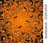 halloween background. vector... | Shutterstock .eps vector #151911419