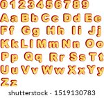 cheese font type 2020 year... | Shutterstock .eps vector #1519130783
