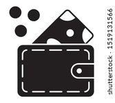 mens wallet with cash vector...   Shutterstock .eps vector #1519131566