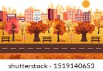 autumn landscape.panoramic of... | Shutterstock .eps vector #1519140653