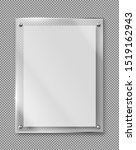 blank poster in glass frame... | Shutterstock .eps vector #1519162943