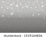 christmas falling snow. heavy... | Shutterstock .eps vector #1519164836
