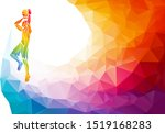 polygonal geometric... | Shutterstock .eps vector #1519168283