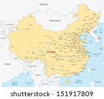 china map | Shutterstock .eps vector #151917809