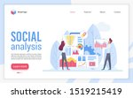 social analysis landing page... | Shutterstock .eps vector #1519215419