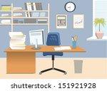 Interior Office Room.vector...