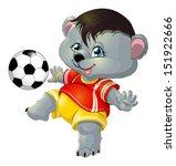 Stock vector bear and ball 151922666