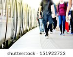 passengers and commuter train | Shutterstock . vector #151922723
