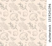 autumn pattern with chanterelle ...   Shutterstock .eps vector #1519241396