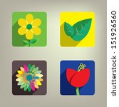 colorful flower icon set | Shutterstock .eps vector #151926560