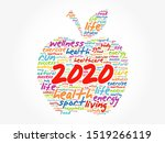 2020 apple word cloud collage ... | Shutterstock .eps vector #1519266119