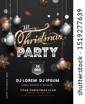 party invitation card design... | Shutterstock .eps vector #1519277639