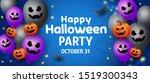 happy halloween party banner... | Shutterstock .eps vector #1519300343