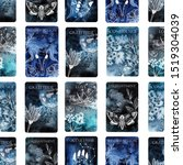 magic and alchemy cards.... | Shutterstock . vector #1519304039