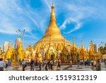 Shwedagon Paya pagoda, or Shwedagon Zedi Daw, Yangon, Myanmar