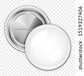 realistic blank white badge on... | Shutterstock .eps vector #1519327406