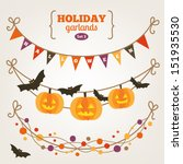 set of holiday garlands  ... | Shutterstock .eps vector #151935530